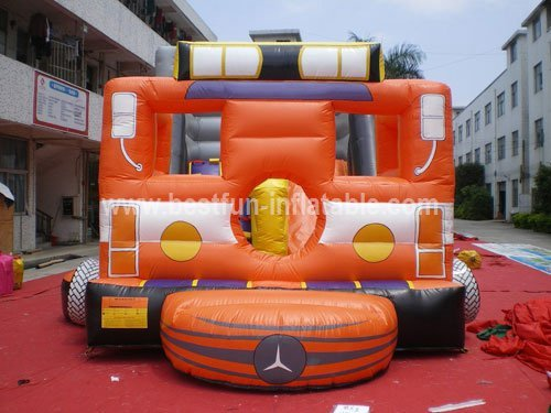 Outdoor advertising inflatable truck
