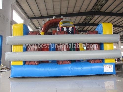 Roller coaster inflatable track slide
