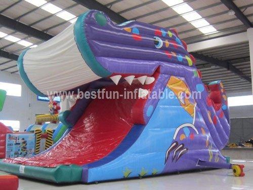 Whale Inflatable Slide Amusement Park