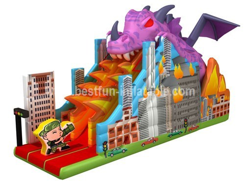 2014 new giant inflatable dragon slide