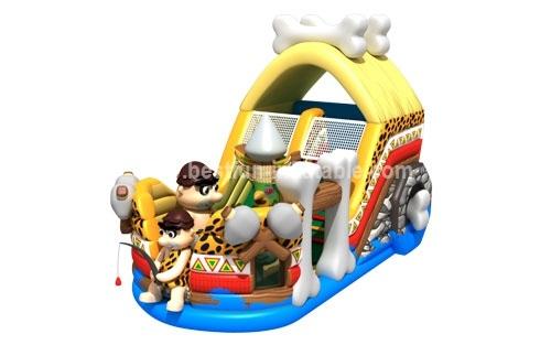 Inflatable customized primitive man slide