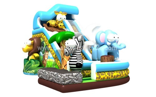 Large inflatable Africa forest slide