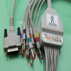 Schiller one-piece 10 lead ECG/EKG cable with leadwires banana 4.0mm AHA