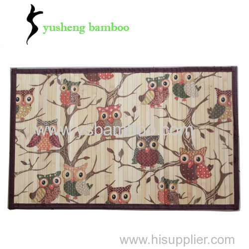 printed children bamboo rug