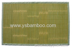 cleaning green bamboo mat