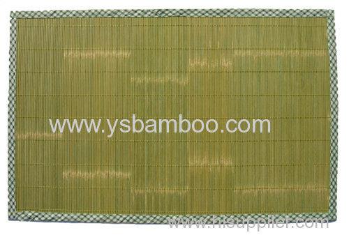 cleaning green bamboo mat