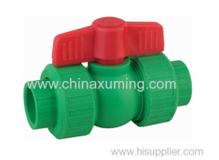 PP-R Ball Valves With Red Handle {Pipe Fittings