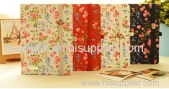 flower/paper hardvocer/ countryside paper note book