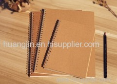 brown paper/soft copy/ iron ring paper note book