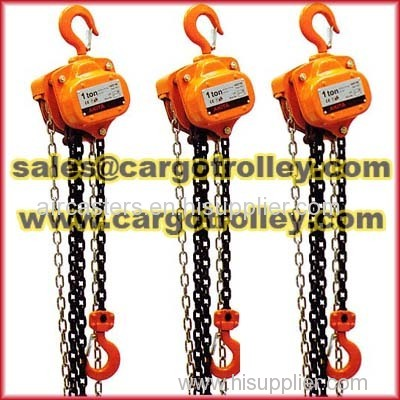 Hand chain hoist specifications