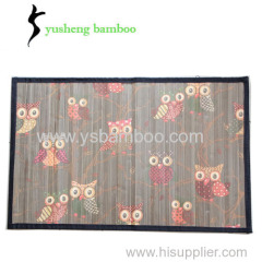 Lovely color painting bamboo mat