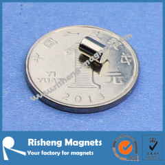 Magnet Supplier provides D4 x 6mm Magnet Rod NiCuNi Plated