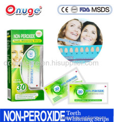 Zero Peroxide Teeth Whitening Strips with CE and MSDS