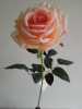 artificial single rose flower silk rose flower