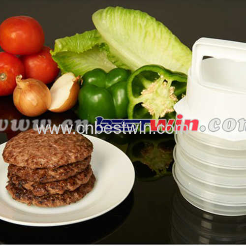 10 piece hamburger patty maker set
