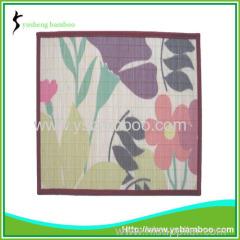 Color printing bamboo mats