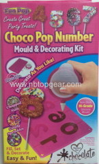 Silicone Chocolate pop number mold decorating kit