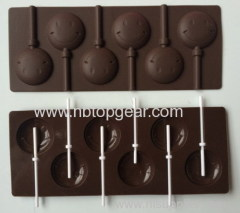 Smile face lollipop maker silicone molds