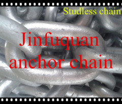studless anchor chain HDG or black tarred