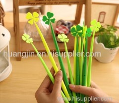 plastic / four-leaf / cute / sign neutral pen