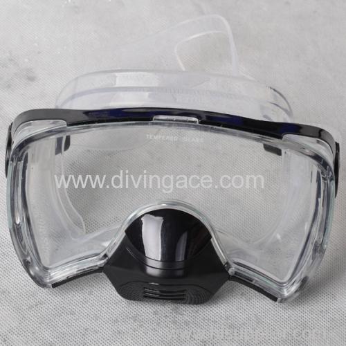 2014 full face tempered glass diving mask