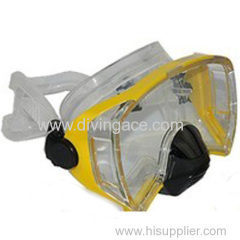 China made high quality tempered glass silicone mask for diving