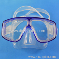 Silicone adult scuba diving mask