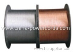 Tinned copper clad steel wire(conductivity 18%) for conductor or braiding and shielding in flexible coaxial cable
