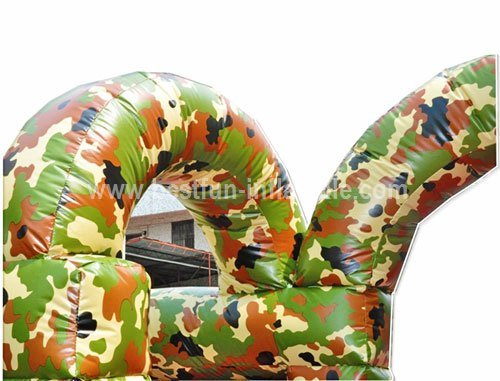 Commercial Military Paintball Inflatable Maze
