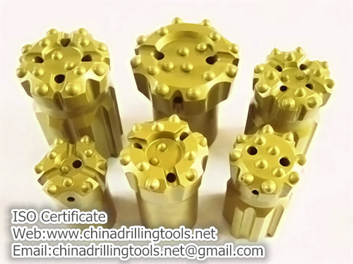 Thread drilling bits for thread rods