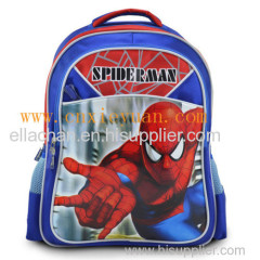 2014 superior quality spider-man school bag backpack for boys