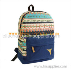 High quality Women Canvas Printing backpack Preppy style Lady Girl Student School bag