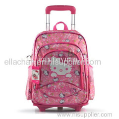 lovely hello kitty school bag with trolley