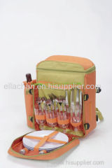 600d polyester outdoor picnic bag for 4 Persons