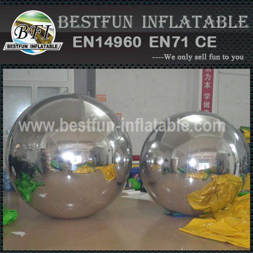 Large metal garden decor mirror gazing ball