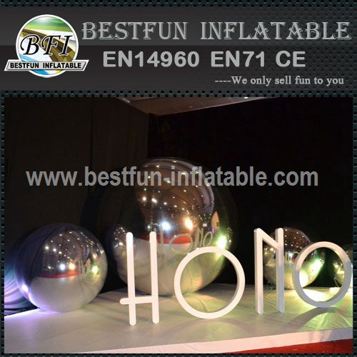 Inflatable Mirror Ball For Advertising