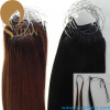 100% human hair korea pre bonded hair extension with cotton thread