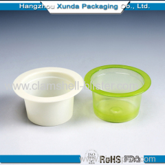 Plastic cups for manufacture