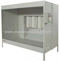 Cartridge recovery powder coating booth