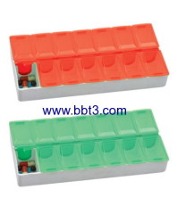Promotional plastic 14 days pill box with printing