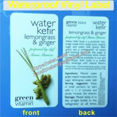 printed self adhesive laminated vinyl package labels