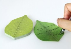 leaves style / fashion sticky note