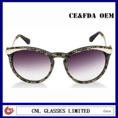 Custom Designer Womens Sunglasses Cat Eye Shape Sunglasses with Arc Temples