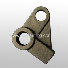 triangle shape need heat treatment and machining silica sol casting for automobile accessory