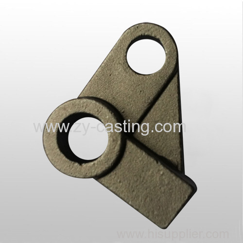 small automobile accessory triangle shape silica sol casting 45# steel