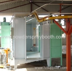 Cartridge filter powder coating booths