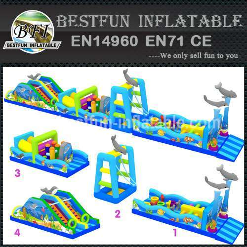 Sea world inflatable obstacle course