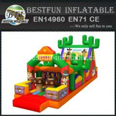 Inflatable cowboy playland obstacle courses