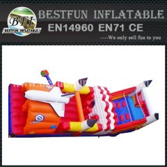 Inflatable space flight obstacle course