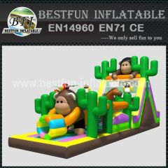 Monkey Inflatable Obstacle Course for promotion